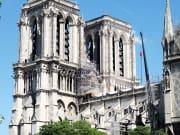 towers of notre dame cathedral after fire