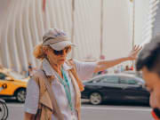 USA, New York, 9/11 memorial tour, guide
