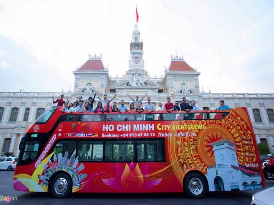 Vietnam, Ho CHi Minh city tour, open-top bus