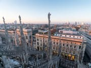 View from the top of the Milan Cathedral