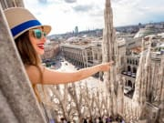 Italy, Milan, Milan Cathedral Rooftop View