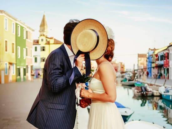 Italy, Burano, Photoshoot, Couple