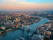 Aerial View of River Thames London