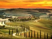 sunset tuscany from florence, siena from florence, san gimignano from florence