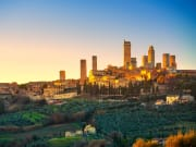 sunset san gimignano from florence