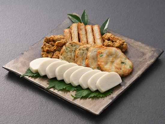 極上蒲鉾+揚げ物3種詰め合わせ-皿