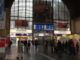 朝のフランクフルト駅