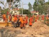 本物の僧侶がたくさんいました!