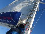 初めてのヨット。真っ白な帆が美しい!