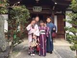 清水寺の参道でパチリ