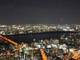 梅田シティ屋上からの夜景です