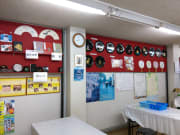 teacher's and students' beautiful products on the wall