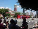 台湾総統府の前で出会った!