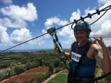 This is me having a blast on the zipline route.