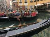 Traffic jam of gondolas