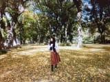 紅葉のセントラルパークで。