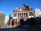 ボストンマラソンスタート地点脇の教会