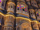 夜のハワーマハル。とっても可愛らしい建物でした。