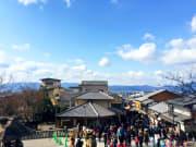 清水寺外面街景可以看到市區風景
