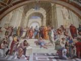アテナイの学堂 ミケランジェロの空気椅子