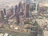 昼の摩天楼の景色