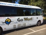 Our Go West Tour bus