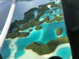 かわいらしい丸っこい島々がたくさん!海のコントラスト最高!