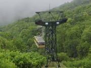 乘有珠山缆车欣赏山上美景