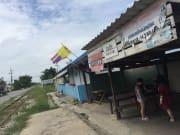 タイのローカルの駅から市場へ