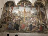 キリストの磔刑のフレスコ画