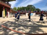 韓国の古武道の披露も見られました!