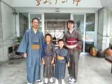 家族4人、初めてみんなで着物を着ました。