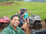 Fun time posing on the ATV with our outstanding guide!
