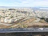 ツインピークスからのサンフランシスコの眺め素晴らしかったです。