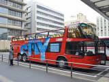 オープントップバス 普通のバスの屋根よりも高い場所から景色が見れます。