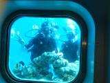 海中展望台で