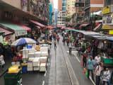 香港島 2階建てトラムからの眺め
