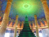 ワットパクナム寺院のガラス仏塔と天井画