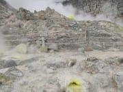 可以近距離觀察的硫磺山