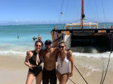 Us with the boat and an employee who was pretty nice!