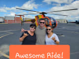 Photo op after the incredible ride