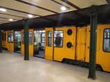 世界遺産にもなっている地下鉄です。レトロな雰囲気。