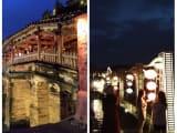 日本橋(左手)とアンホイ橋(右手)