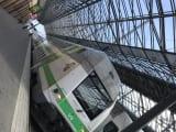 列車に乗ります。貴重な体験です!