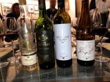 TORESでの試飲。4種類のワインをそれぞれに合うチーズと合わせて。