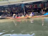 手漕ぎボートからの風景