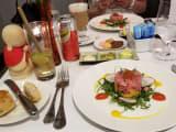 フランス料理のディナー